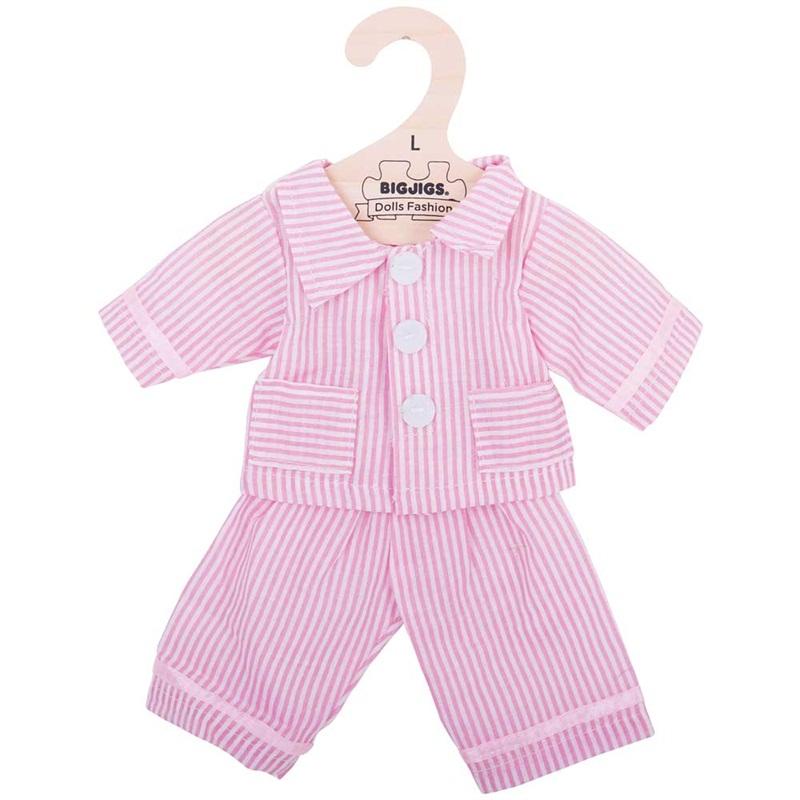 Bigjigs Toys Růžové pyžamo pro panenku 38 cm