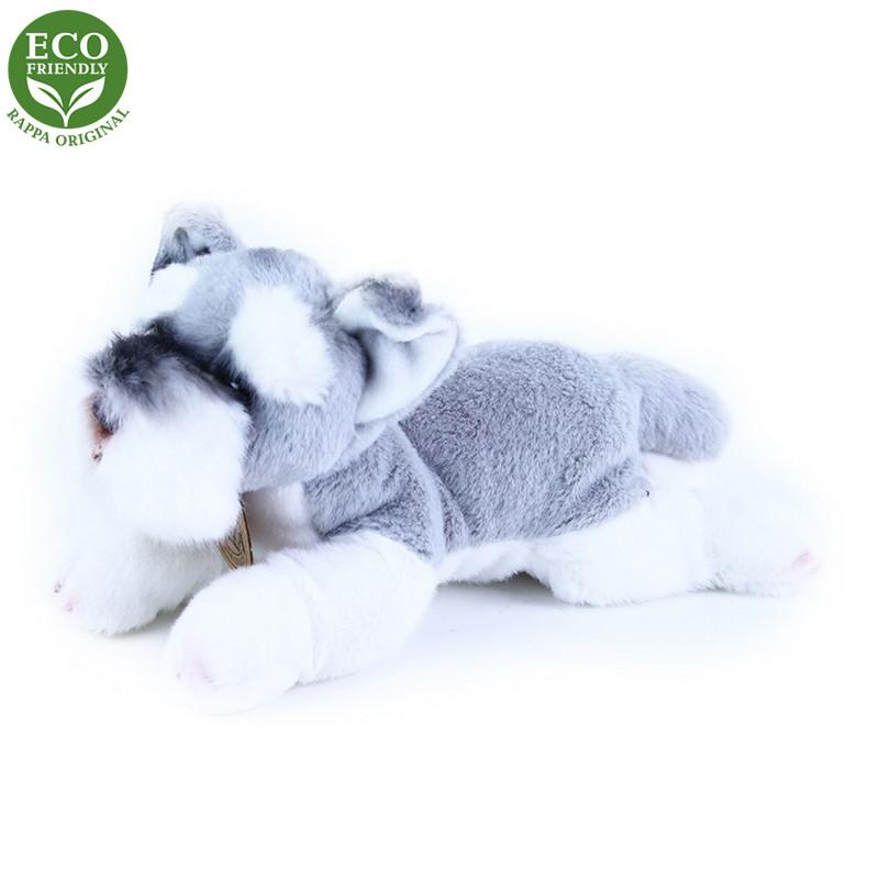 Rappa Plyšový pes ležící 16 cm ECO-FRIENDLY 1 ks šedý Rappa Plyšový pes ležící 16 cm ECO-FRIENDLY 1 ks šedý
