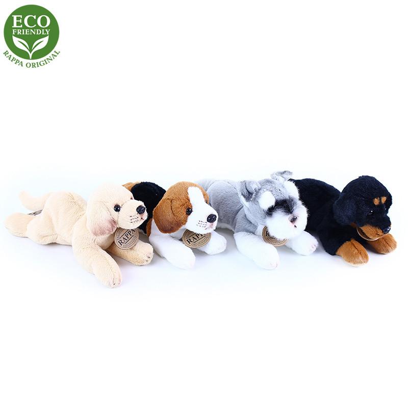 Rappa Plyšový pes ležící 16 cm ECO-FRIENDLY 1 ks