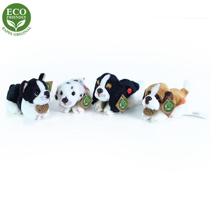 Rappa Plyšoví psi ležící se zvukem 4 druhy 15 cm ECO-FRIENDLY 1ks