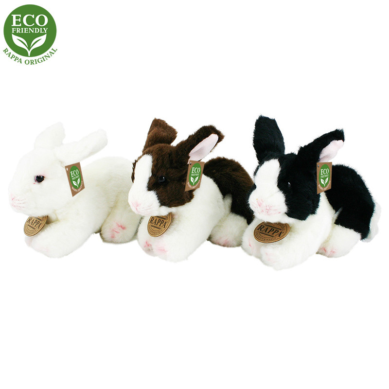Rappa Plyšový králík ležící 3 druhy 16 cm ECO-FRIENDLY 1 ks