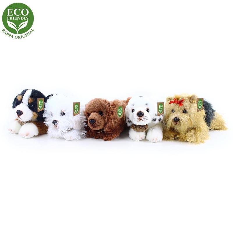 Rappa Plyšový pes ležící 5 druhů 17 cm ECO-FRIENDLY 1 ks