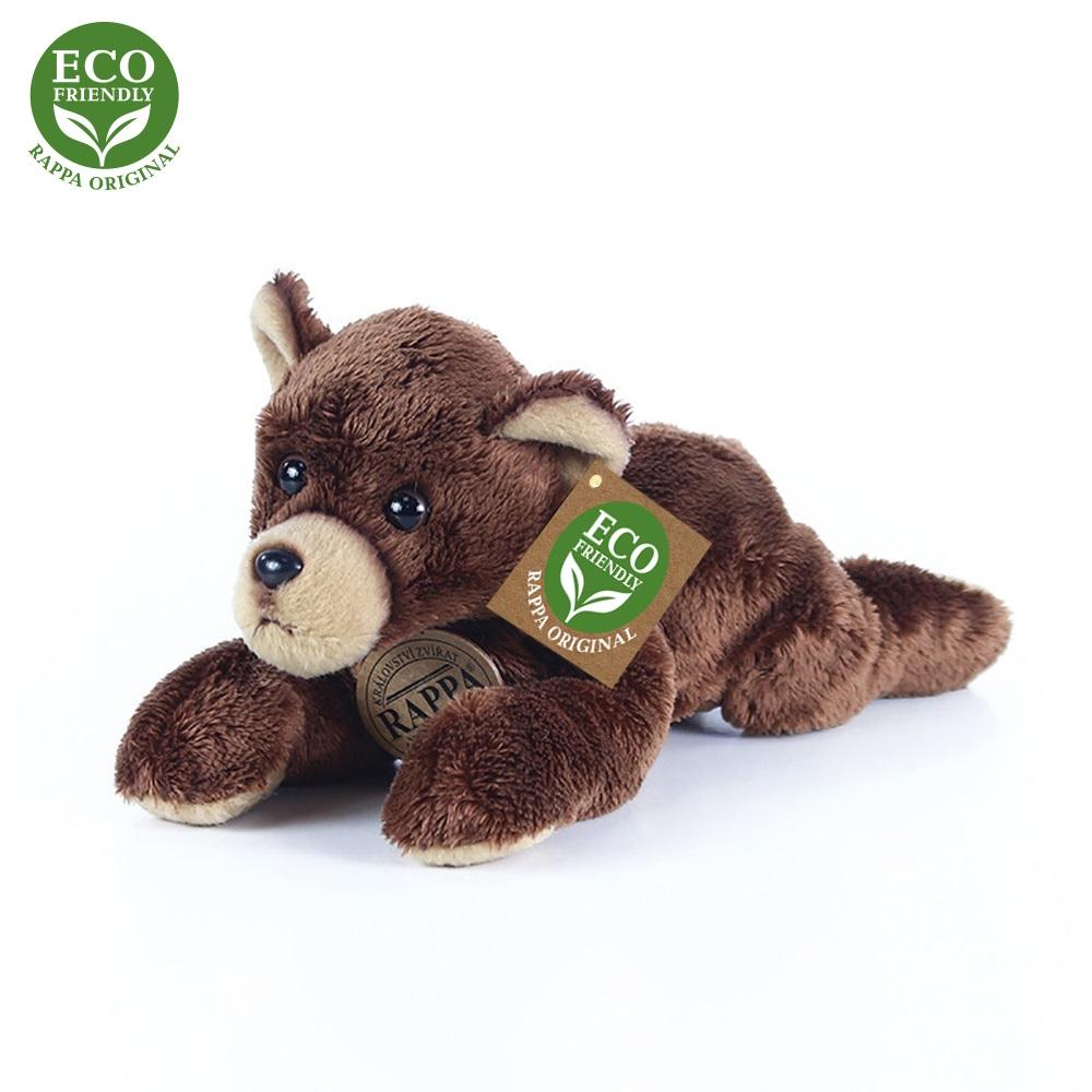 Rappa Plyšový medvěd ležící 18 cm ECO-FRIENDLY