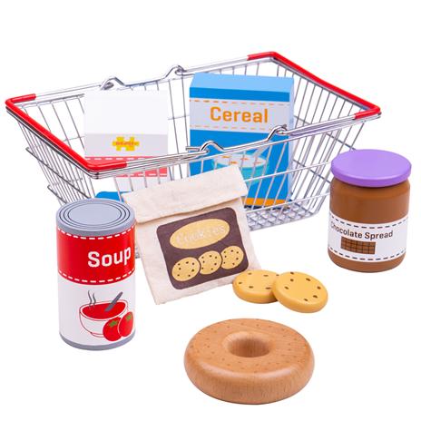 Bigjigs Toys Nkupní košík s potravinami