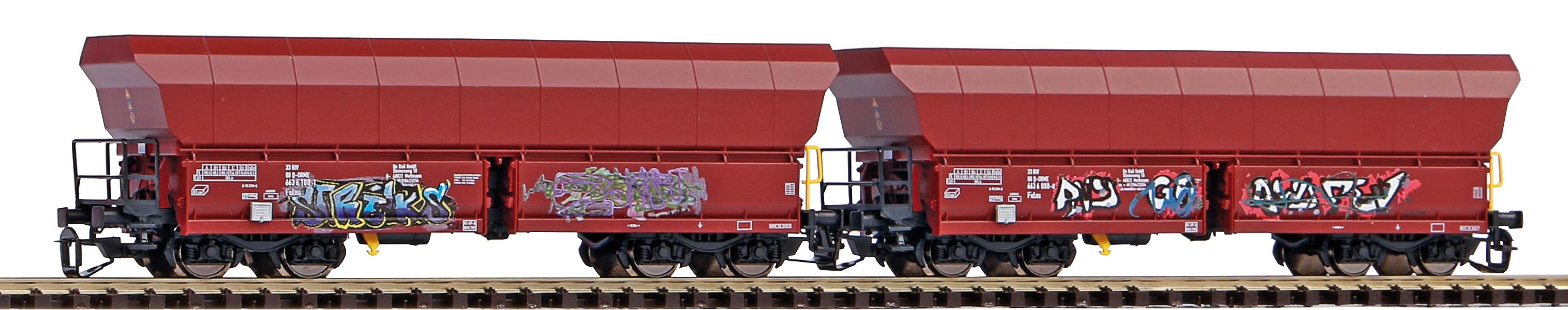 Piko Sada 2 Výsypných vagónů Falns OnRail VI s patinou a graffiti - 47746