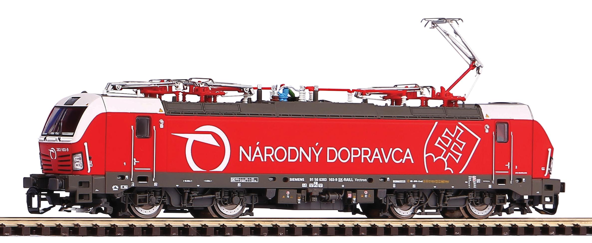 Piko Elektrická lokomotiva Vectron s 4 pantografy ZSSK VI - 47387