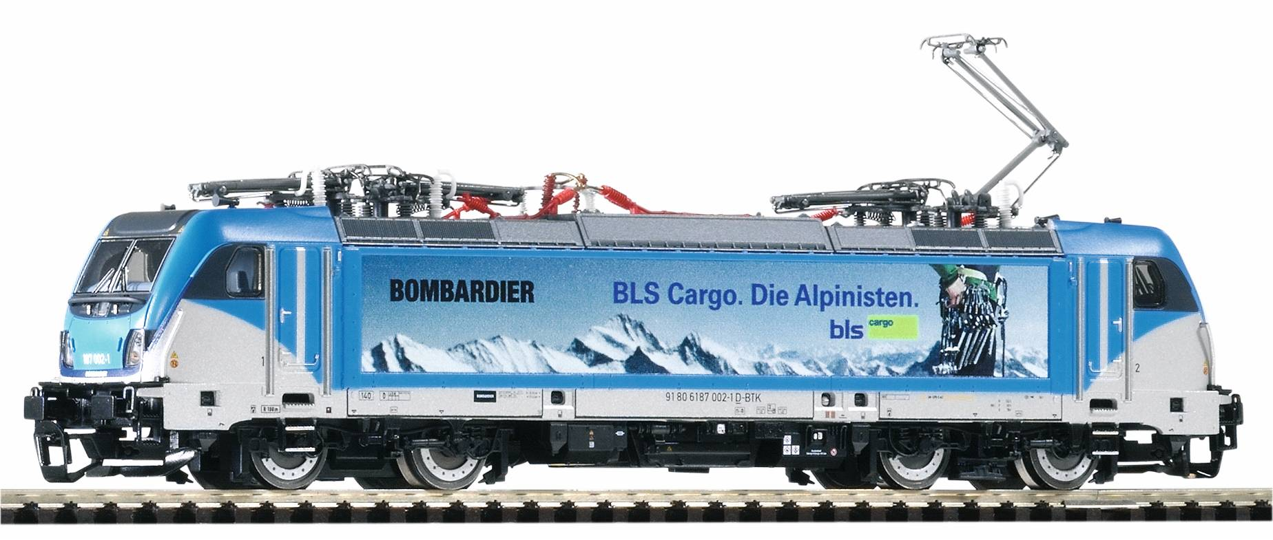 Piko Elektrická lokomotiva BR 187 Traxx AC3 se 4 pantografy BLS VI - 47450