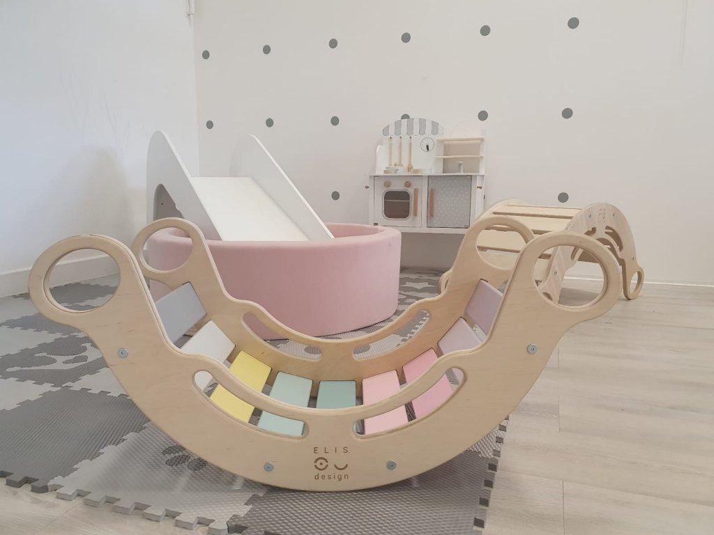 Montessori Duhová houpačka 5v1