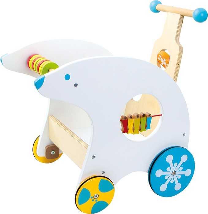 Dřevěné hračky - Didaktický vozík Lední medvěd