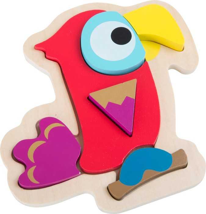 Dřevěná hračka - Puzzle Papoušek