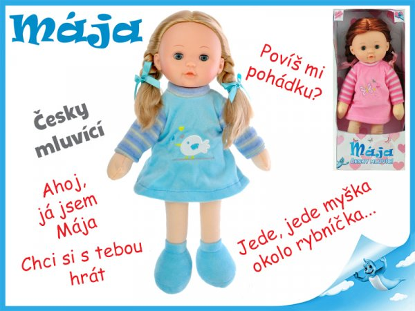 Mrkací panenka Mája 42cm mluvící