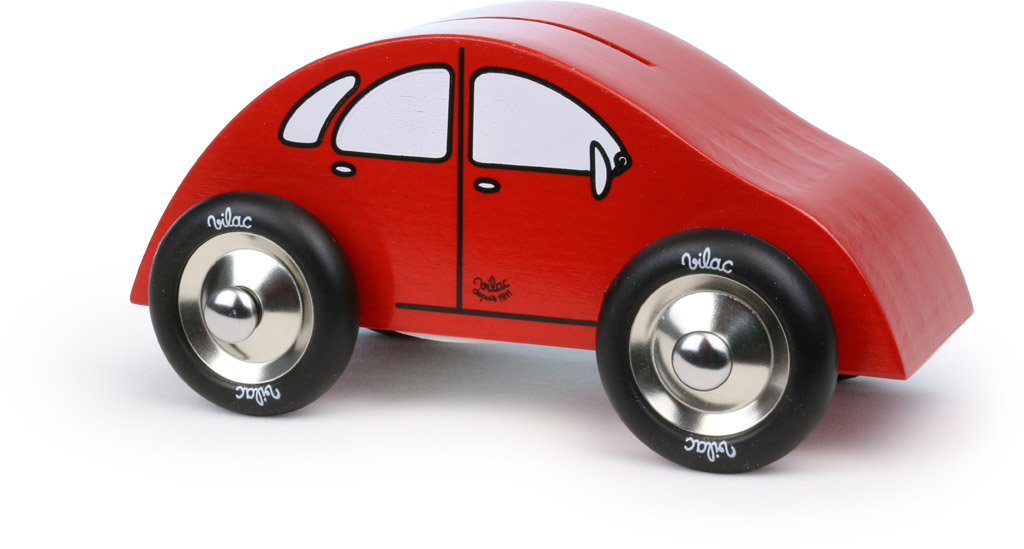 Vilac dřevěné červené auto pokladnička