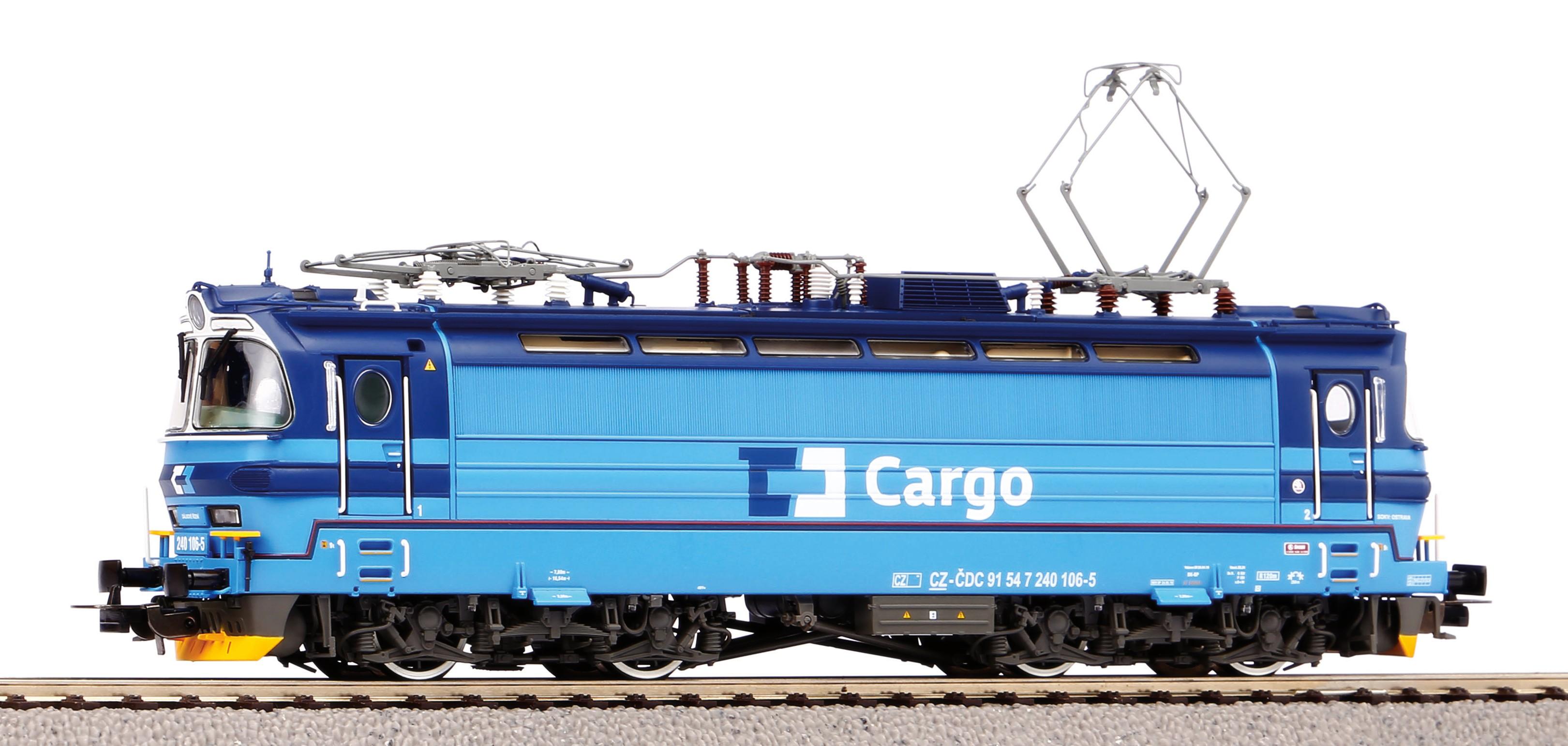 """Piko Elektrická lokomotiva vč. dig. dekodéru BR 240 """"Laminátka"""" ČD Cargo VI - 51385"""