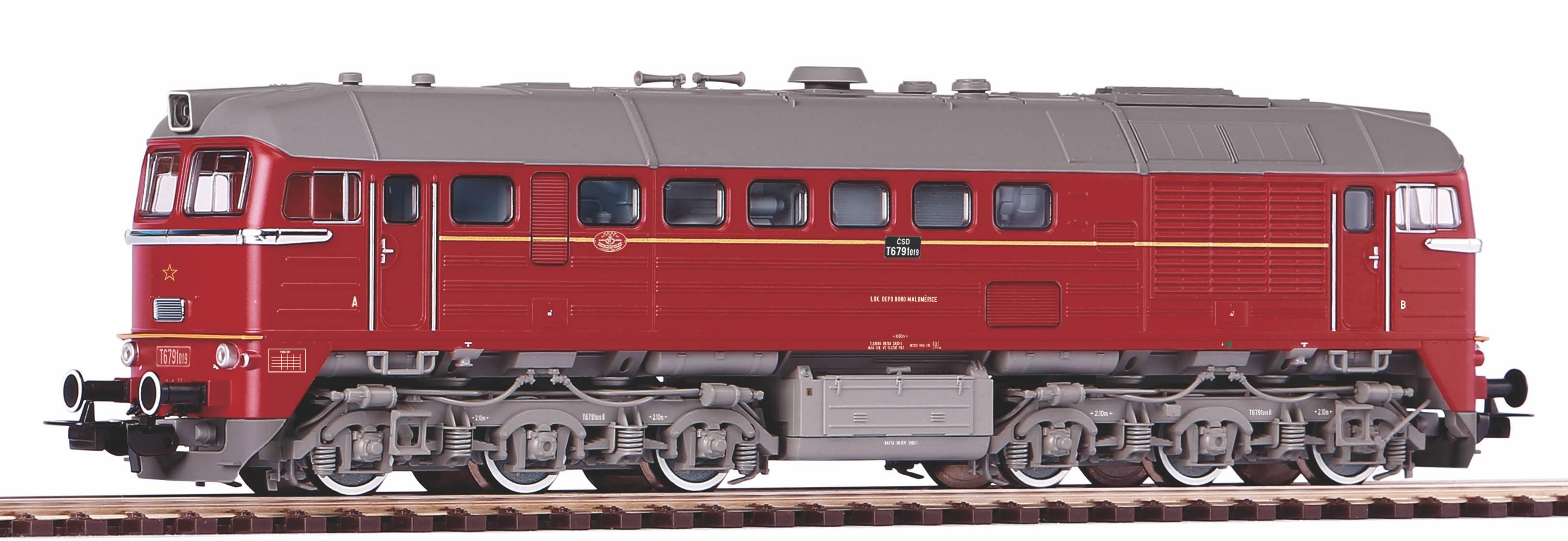 Piko Dieselová lokomotiva T679 ČSD IV - 52819