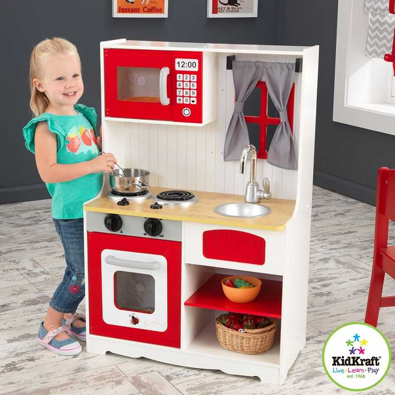 Dřevěné hračky - KidKraft Kuchyňka Red Country