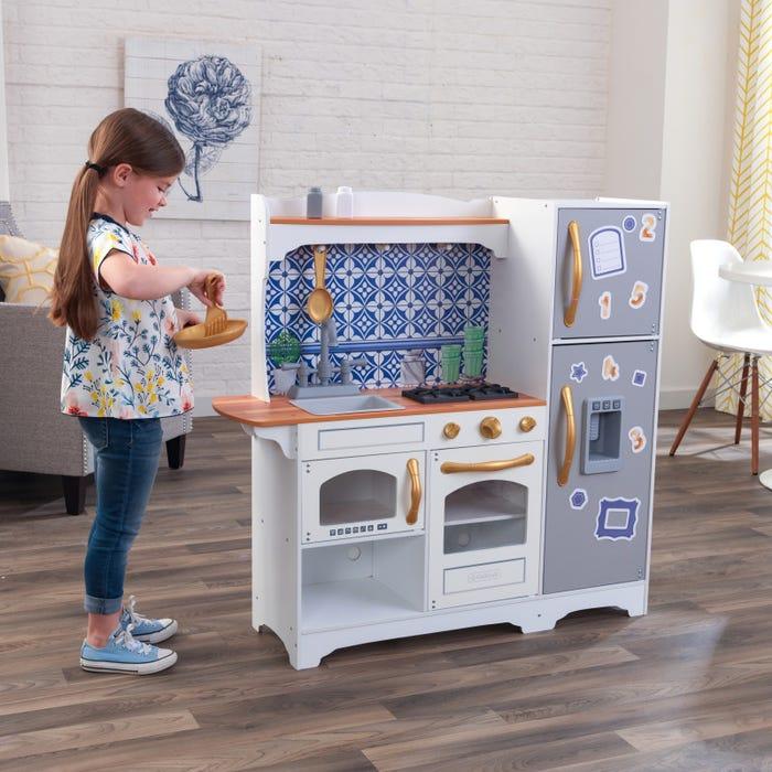 KidKraft Dřevěná kuchyňka Mosaic s magnetickou lednicí