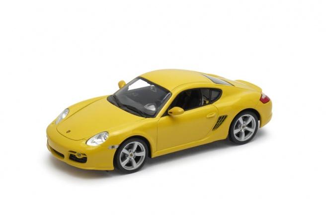 Welly - Porsche Cayman S model 1:24 žluté