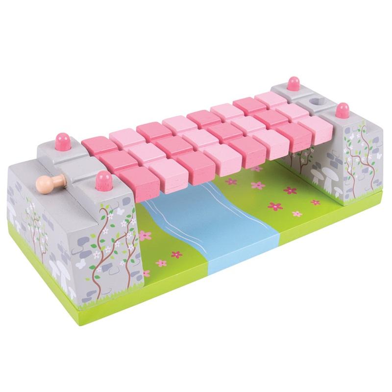 Bigjigs Rail Růžový houpací most