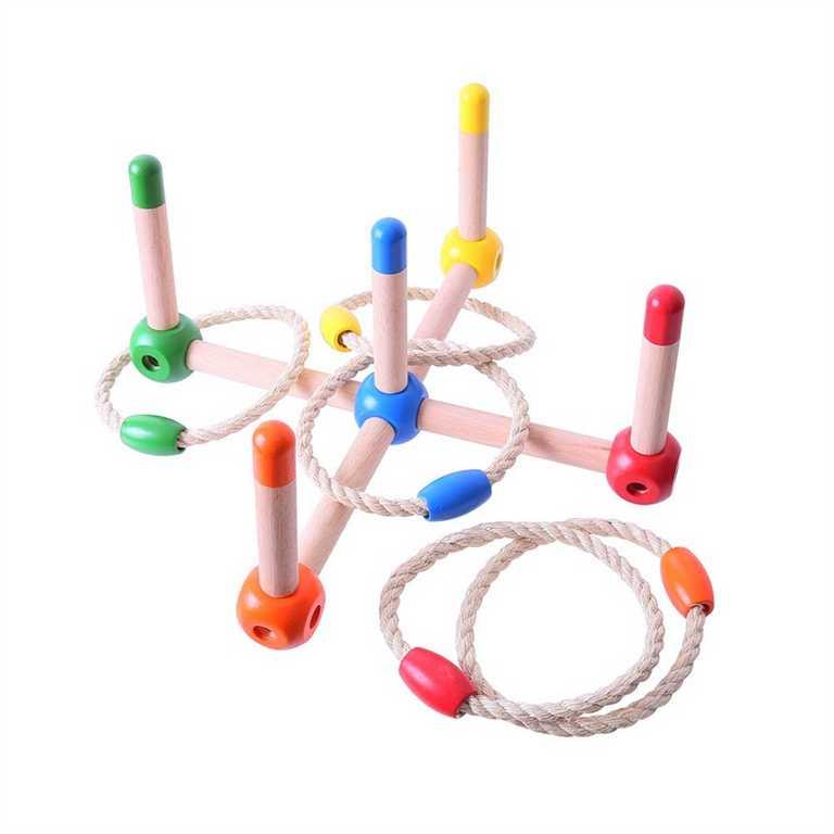 Bigjigs Toys Barevné házení kroužků
