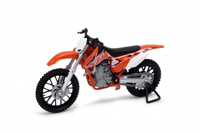 Welly - Motocykl KTM 450SX-F model 1:18 oranžový
