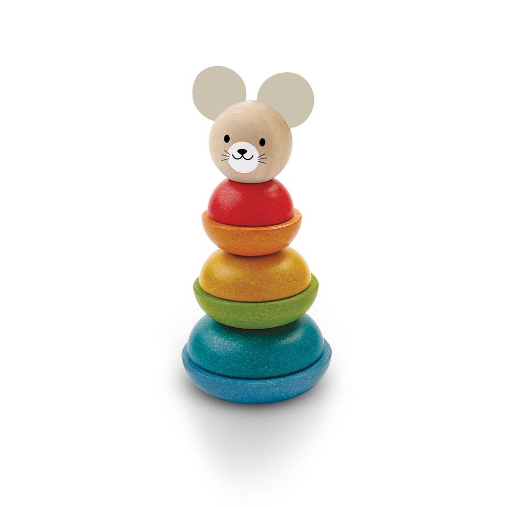 PlanToys Nasazování na tyč myška
