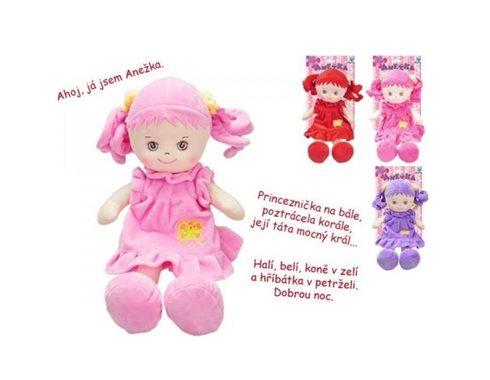 Panenka Anežka mluvící 36cm růžová