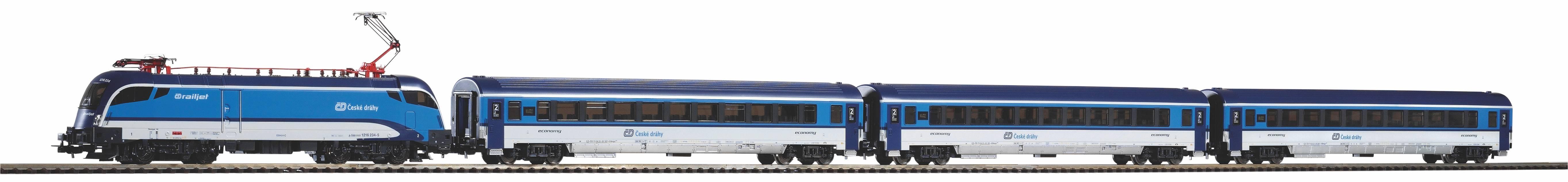 Piko Startovací sada Osobní vlak Taurus Railjet IC ČD VI - 57179