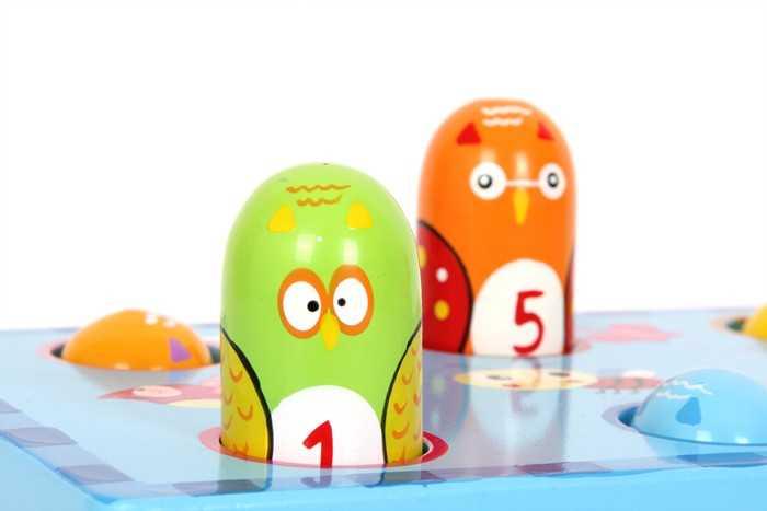 Dřevěné hračky pro kluky - Zatloukej ptáka