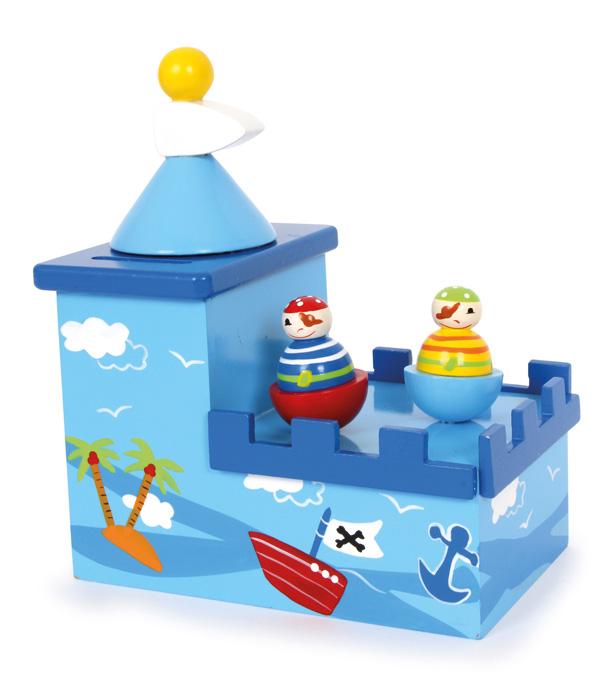 Dřevěné hračky -  Dřevěná hrací pokladnička Olli a Bolli