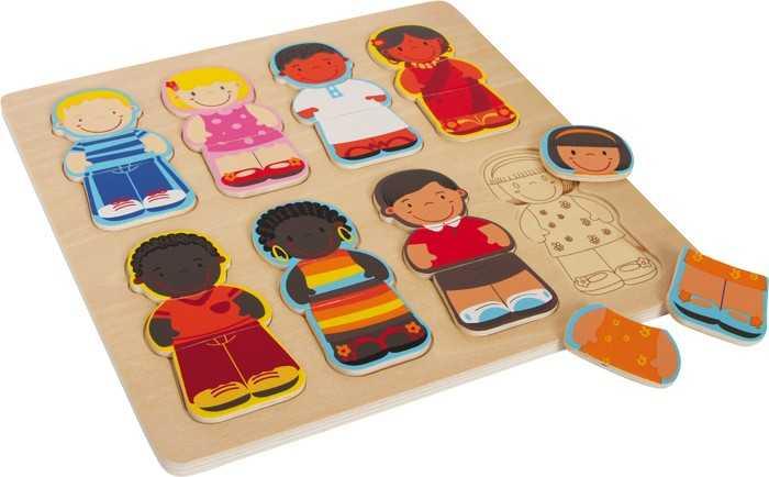 Small Foot  Vkládací puzzle děti tohoto světa
