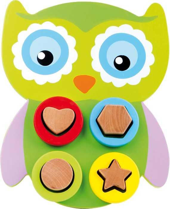 Dřevěná hračka - Motorická sova