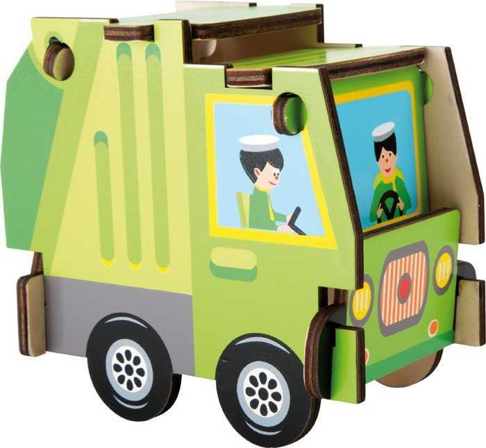 Small Foot Jednoduchá dřevěná skládačka nákladní auto