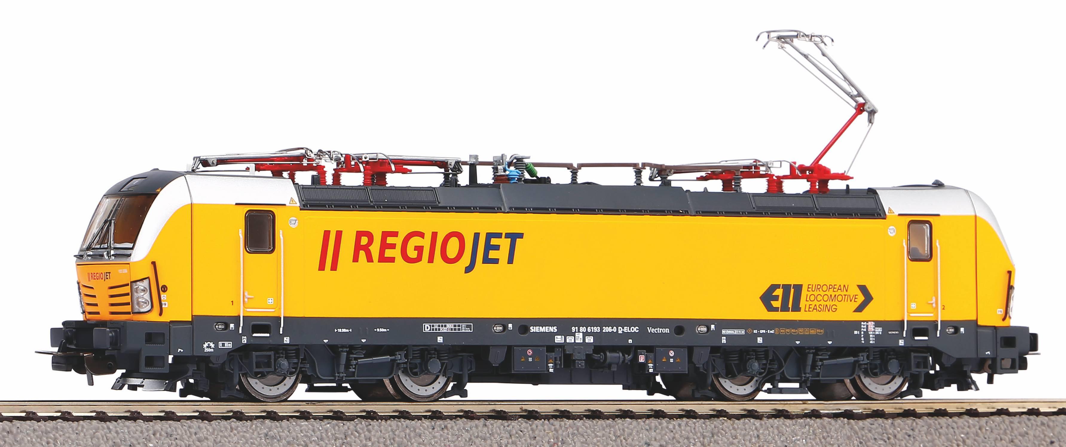 Piko Elektrická lokomotiva Vectron s 4 pantografy Regiojet VI - 59591