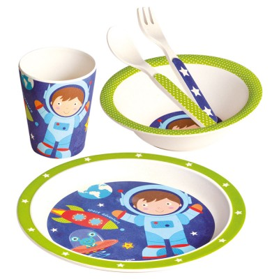 Bino Bambusové nádobí 5dílný set Astronaut