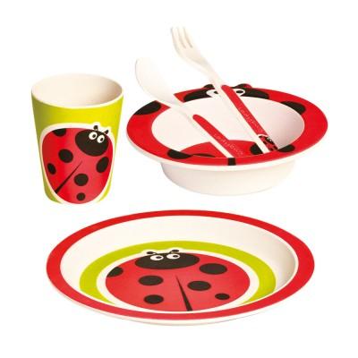 Bino Bambusové nádobí 5dílný set Beruška