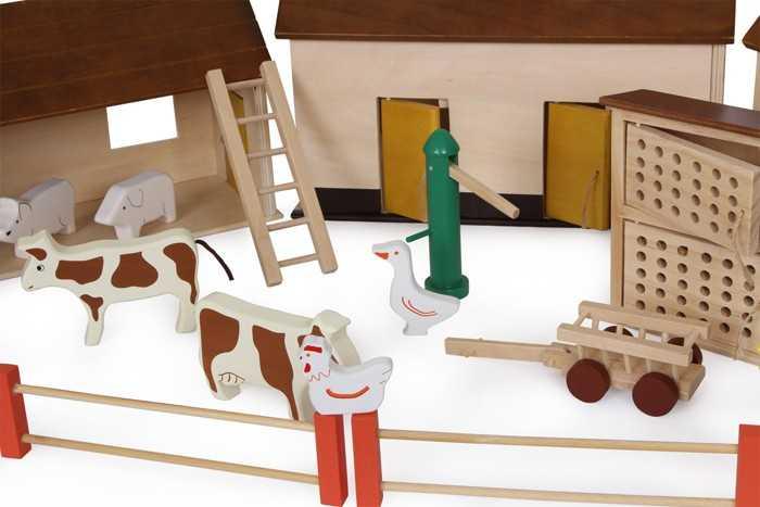 Dřevěné hračky - Farma Život na venkově
