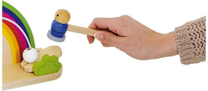 Dřevěná motorická hra - Duhová houpačka