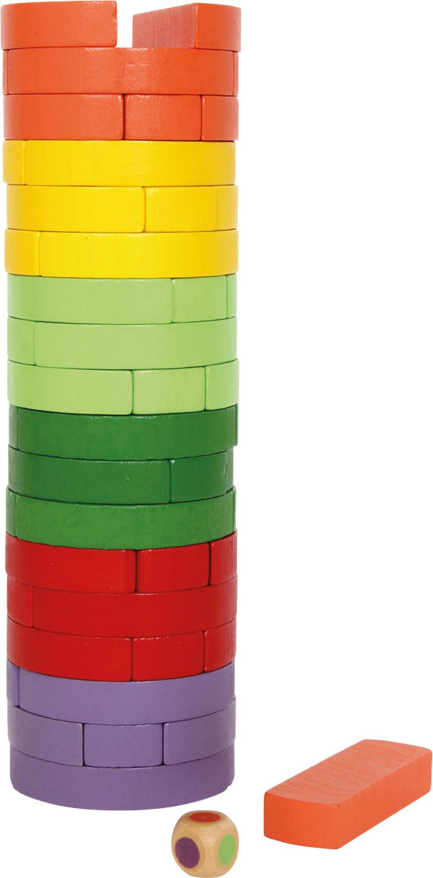 Small Foot Dřevěná věž Wobbling barevná