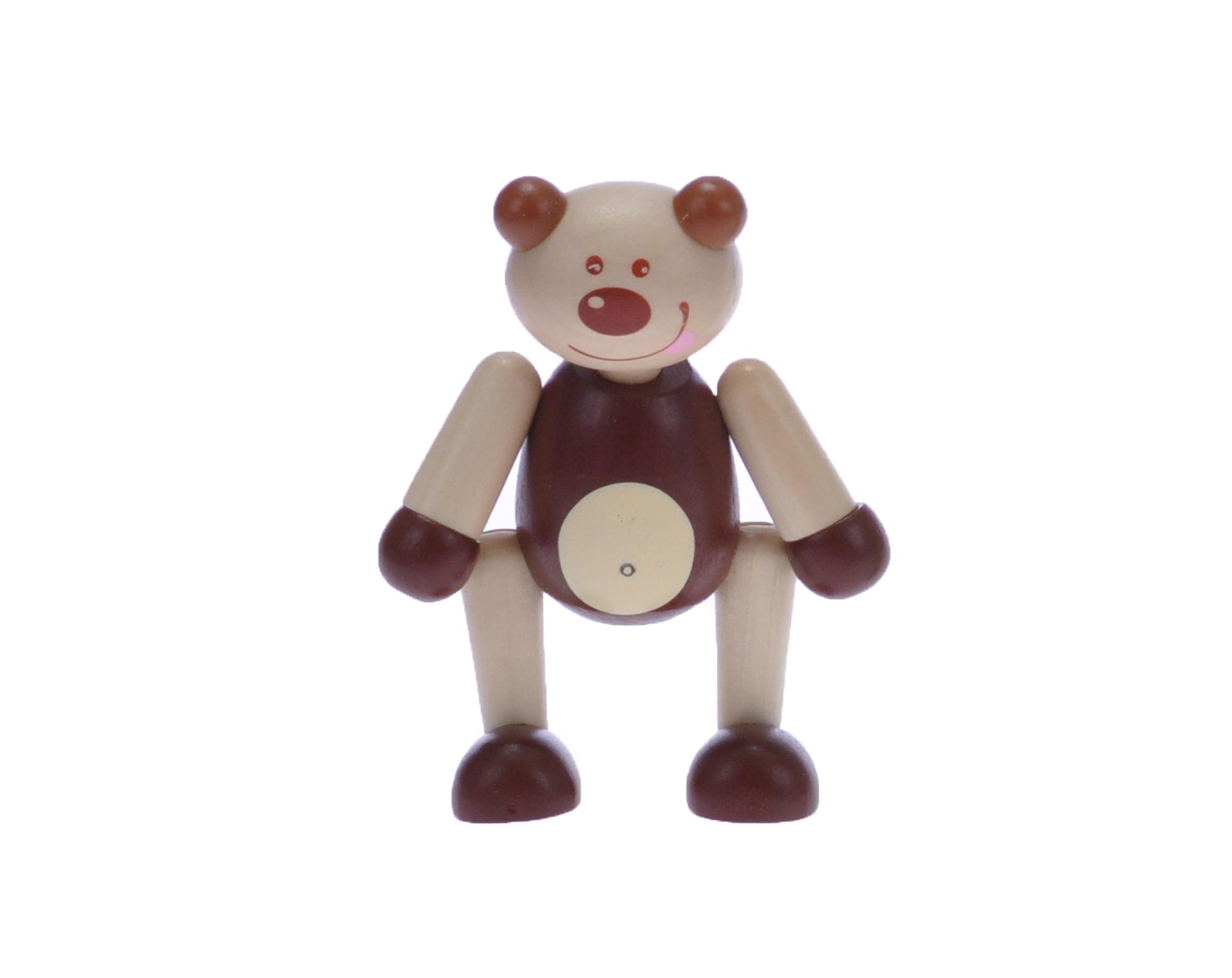 Dřevěné pohyblivé zvířátko - Medvídek