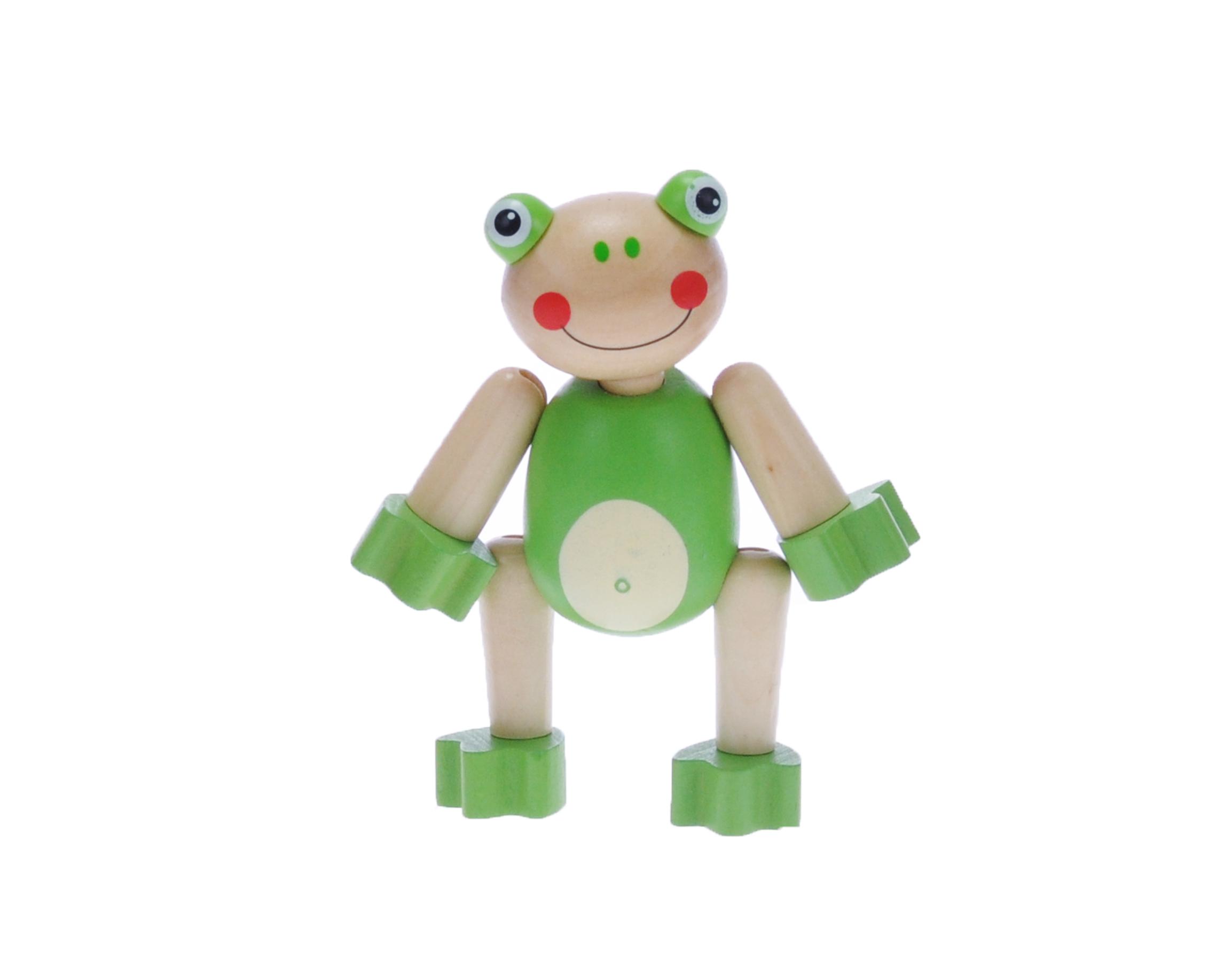 Dřevěné pohyblivé zvířátko - Žabka