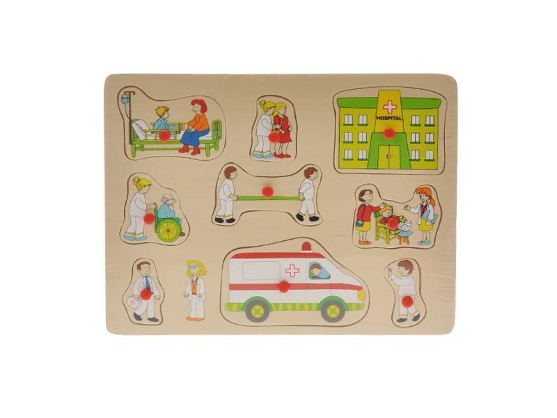 Dřevěná vkládačka 2-Play Ambulance