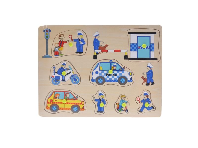 Dřevěná vkládačka 2-Play Policie