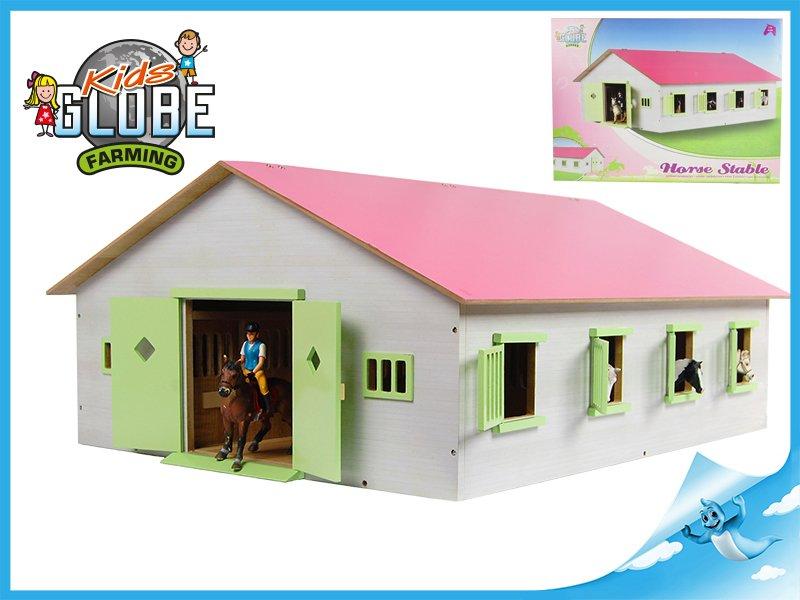 Dřevěná stáj pro koně 1:24