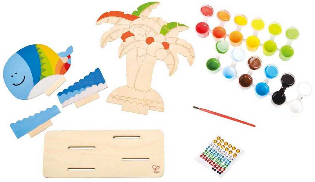 HAPE dřevěné hračky - Vytvoř si - Tropický ostrov