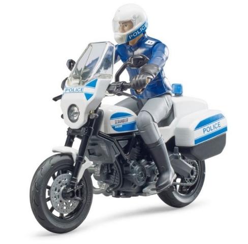 Bruder BWORLD policejní motocykl Ducati Scrambler s jezdcem