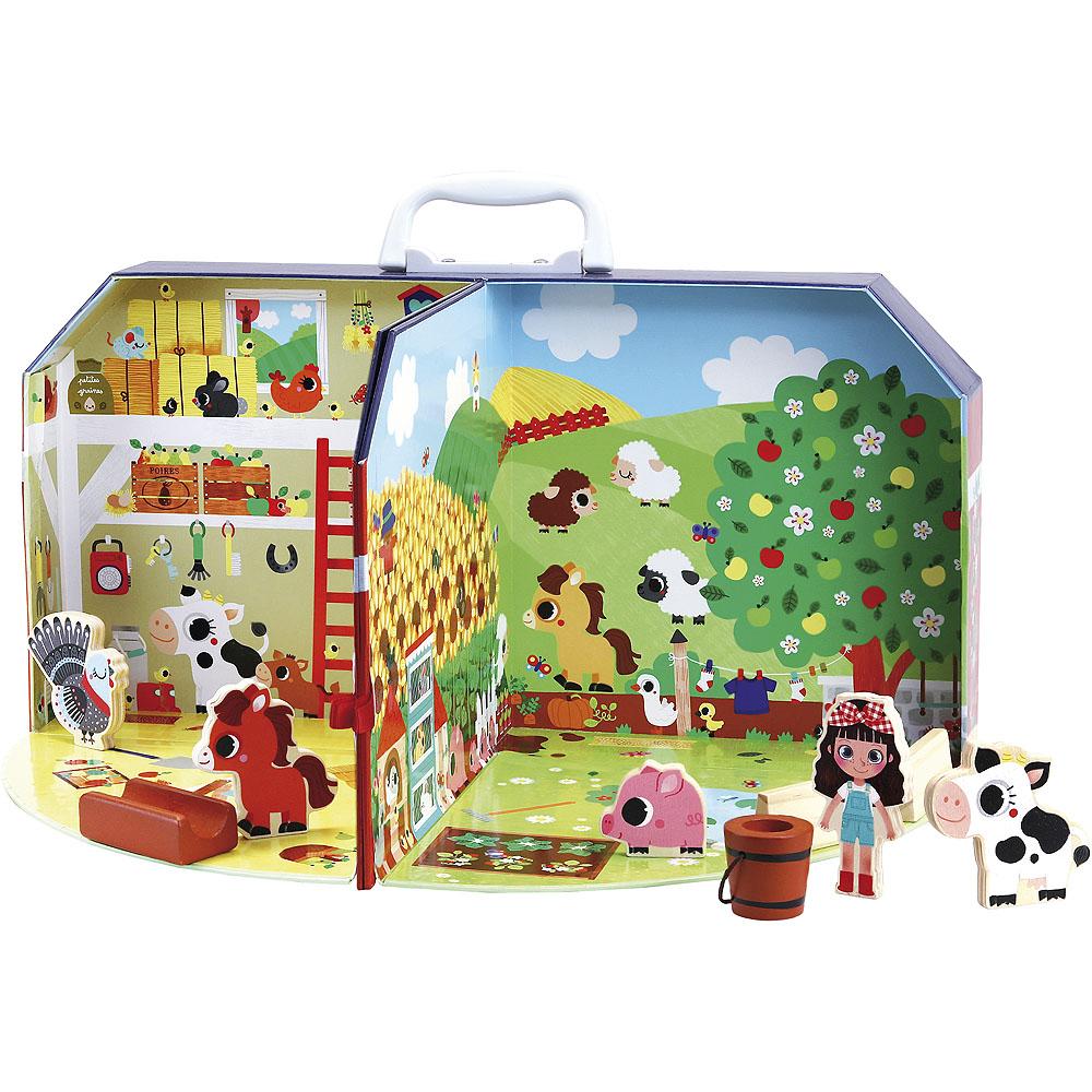 Vilac Skládací farma v kufříku