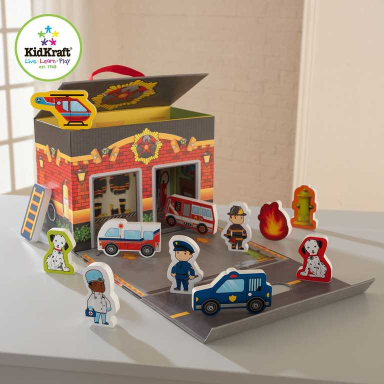 Dřevěné hračky - KidKraft Hrací set Hasiči