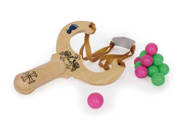 Small Foot Dřevěné hračky prak s kuličkami