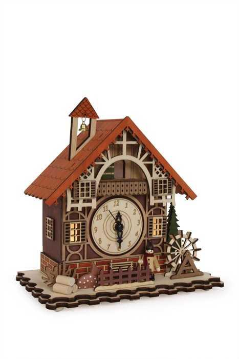 Small Foot Dekorační hodiny Hrázděný dům