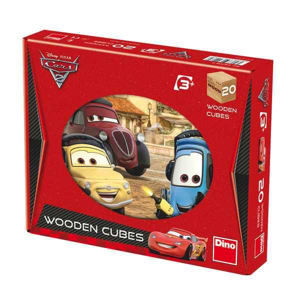 Dřevěné obrázkové kostky - Kubus 20 ks Cars 2